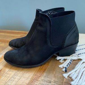 Steve Madden Rosemare Black Leather Booties